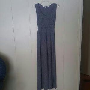 MAX STUDIO: Long Gray Stretchy Dress Sz. XS